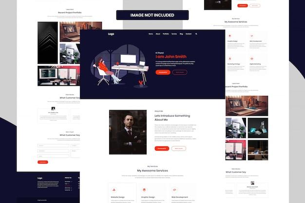 Persönliches portfolio web template ui design