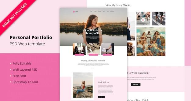 Persönliches portfolio-web-template
