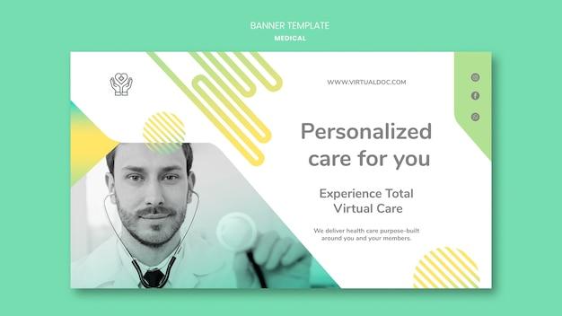 Personalisierte pflege banner vorlage