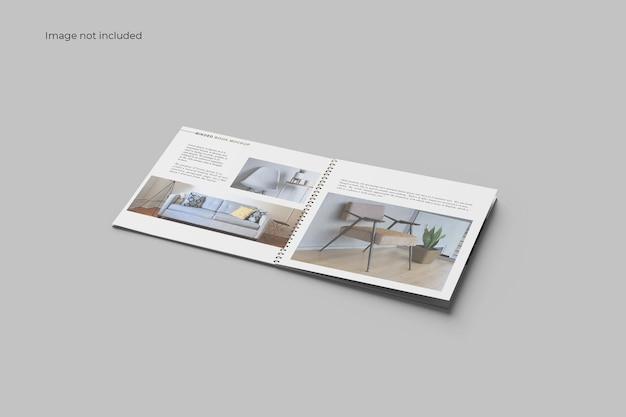 Perspective catalog binder mockup