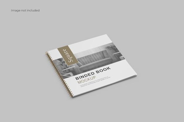Perspective square brochure mockup