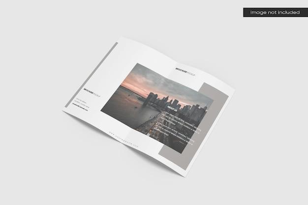 Perspektivisches bifold-broschürenmodell