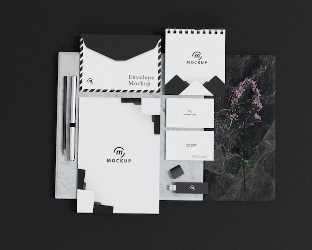 Perspektivisches branding-modell