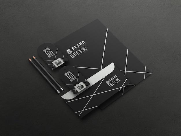 Perspektivisches briefpapier set-modell