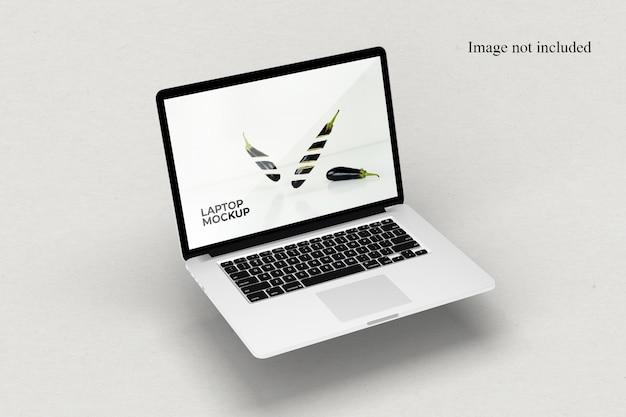 Perspektivisches laptop-modell