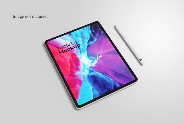 Perspektivisches tablet-modell