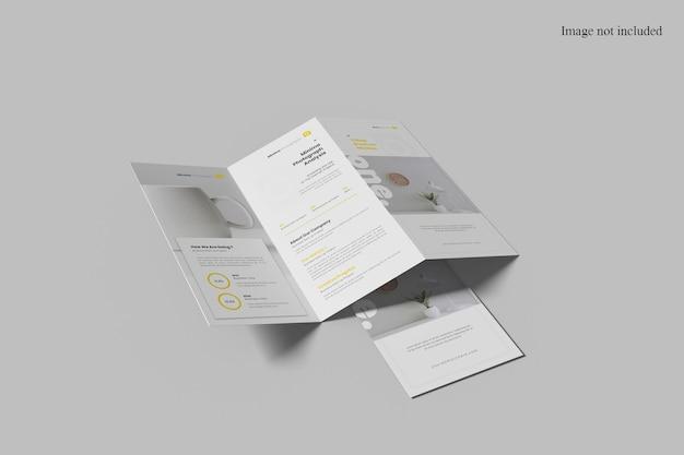 Perspektivisches trifold-broschürenmodell