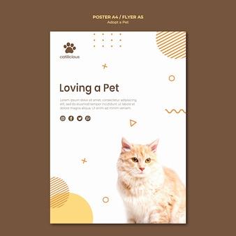 Pet adoption flyer vorlage stil