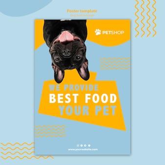 Pet shop flyer vorlage konzept