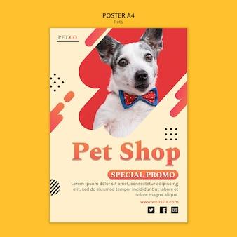 Pet shop poster vorlage