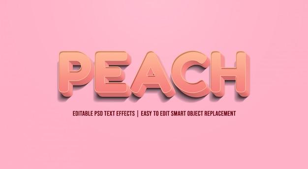 Pfirsich - text effekt premium psd