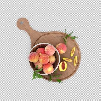 Pfirsiche 3d übertragen