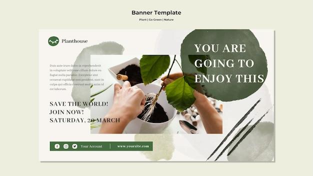 Pflanze gehen grün natur banner