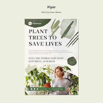 Pflanze gehen grün natur flyer