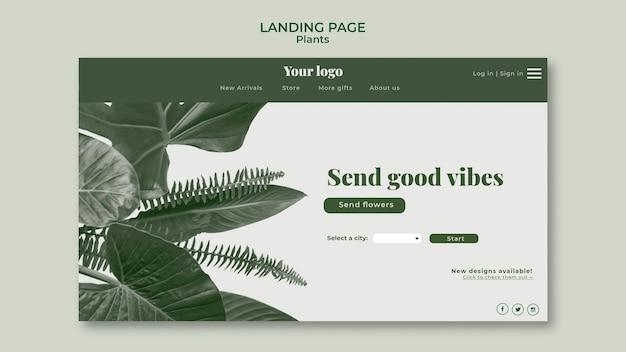 Pflanzen landing page konzept