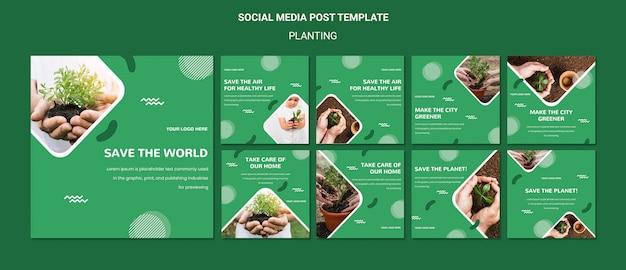 Pflanzen sie bäume für eine bessere luft social media post