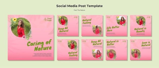 Pflege der natur social media beiträge