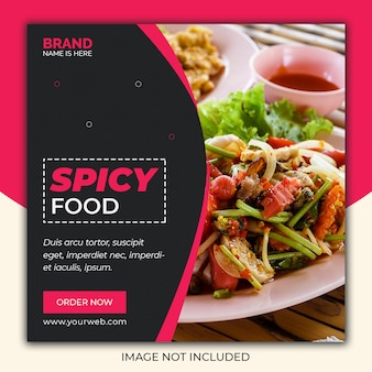 Picy food social media post banner vorlage