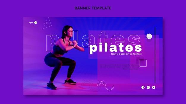 Pilates trainingsbanner vorlage