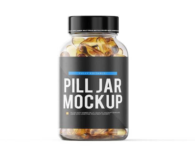 Pill jar mockup template