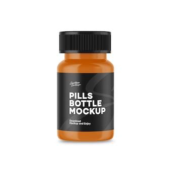 Pillen flasche mockup