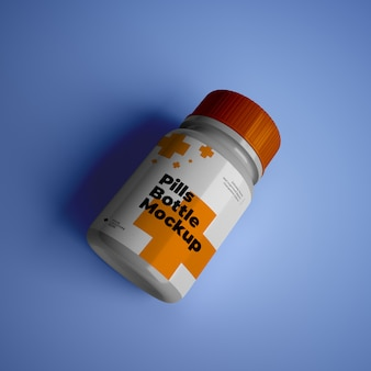Pillenflaschenmodell mit bearbeitbarem design psd