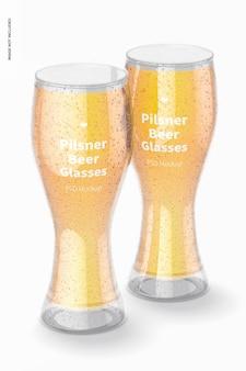 Pilsner biergläser mockup