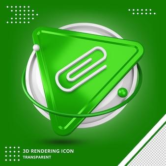 Pin-symbol 3d-rendering Premium PSD