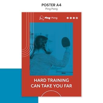 Ping pong konzept poster vorlage