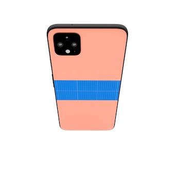 Pink back mobile mockup
