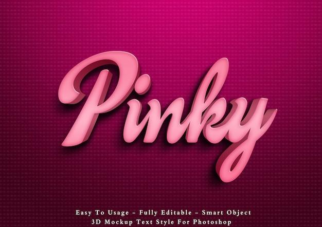 Pinky text style effekt Premium PSD