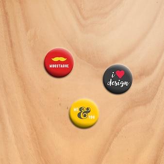 Pins mock up design