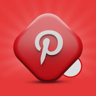 Pinterest 3d icon rendern