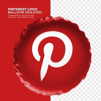 Pinterest logo 3d ballon