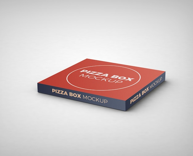 Pizza box mockup isoliert