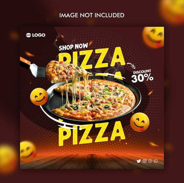 Pizza dicount social media design-vorlage