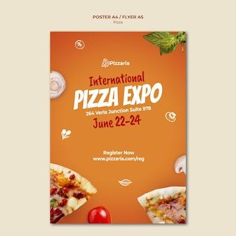 Pizza flyer vorlage