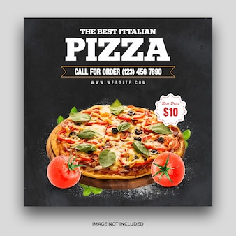 Pizza food menü social media post & web banner vorlage premium psd