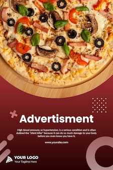 Pizza instagram flyer vorlage psd