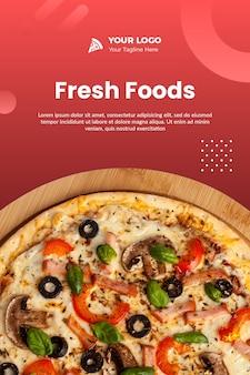 Pizza instagram flyer vorlage psd