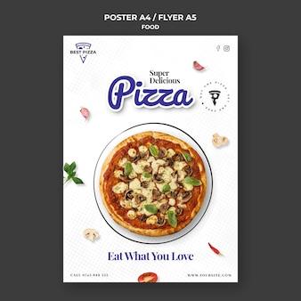 Pizza poster vorlage
