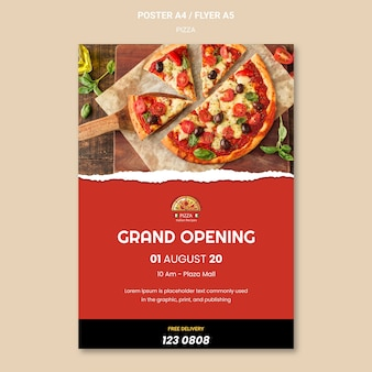 Pizza restaurant flyer vorlage