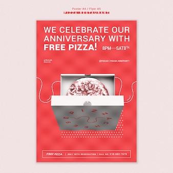 Pizza restaurant flyer vorlage