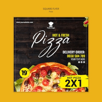 Pizza restaurant quadratischer flyer