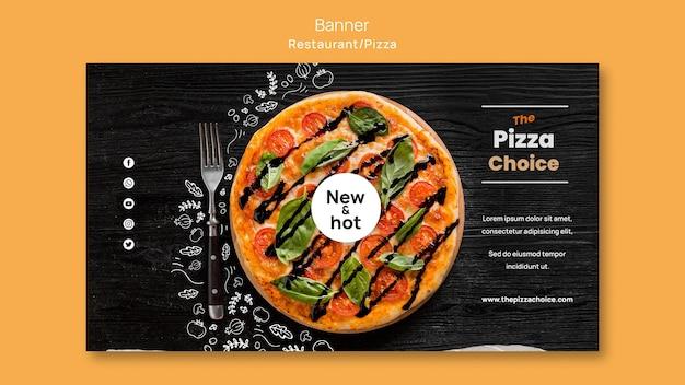 Pizza restaurant vorlage banner