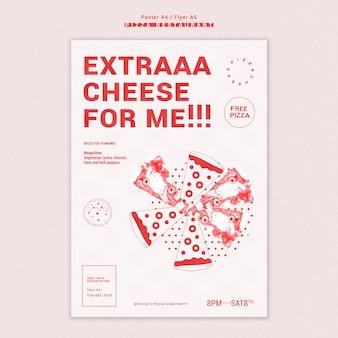 Pizza restaurant vorlage flyer