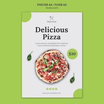 Pizza restaurant vorlage poster