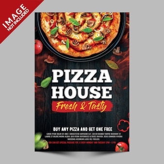 Pizzahaus-plakat-schablone