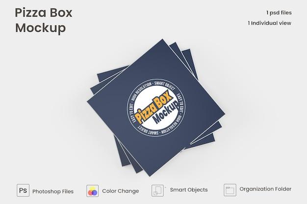 Pizzakarton mock-up isoliert premium psd