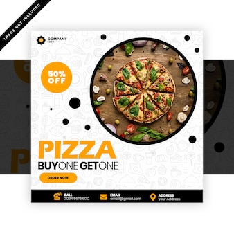 Pizzarestaurantbeitrag für social media